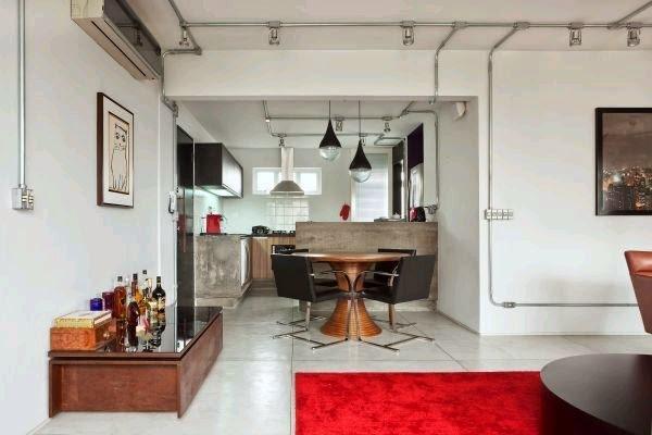 apartamento com cozinha americana
