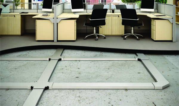 escritorio com duto canal instalado