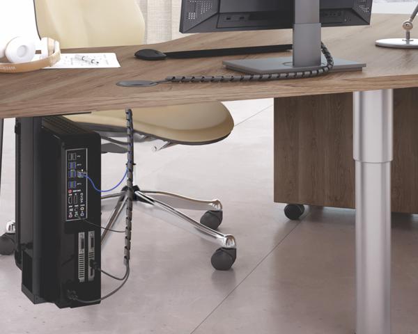 ziper organizador de cabos no escritorio