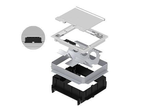 Caixa de Piso Dupla Standard - Piso Concretado