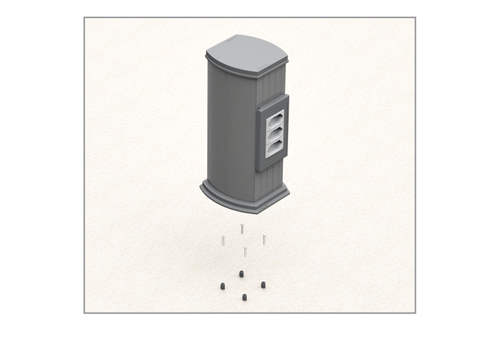 Acessórios para Fixação de Totens Plus - Standard e Light