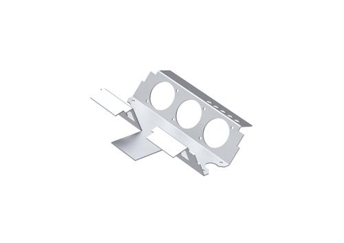 Caixa de sobrepor e adaptador metálico