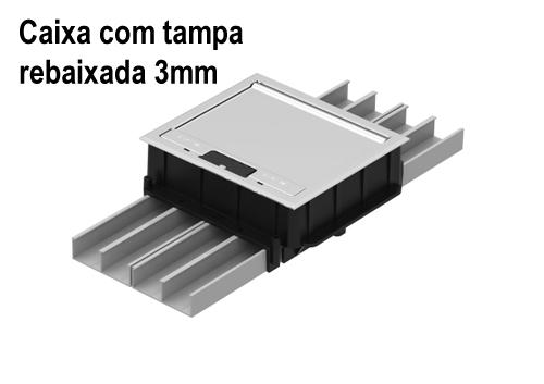 Componentes da Caixa de Piso Dupla Standard