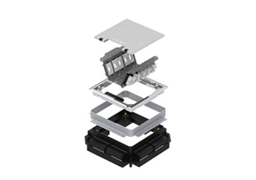 Caixa de Piso SQR Rotation Alto Tráfego 2x2 e 3x3 - Piso Concretado